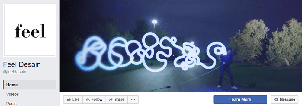 Facebook Cover Video Inspiration Feel Desain