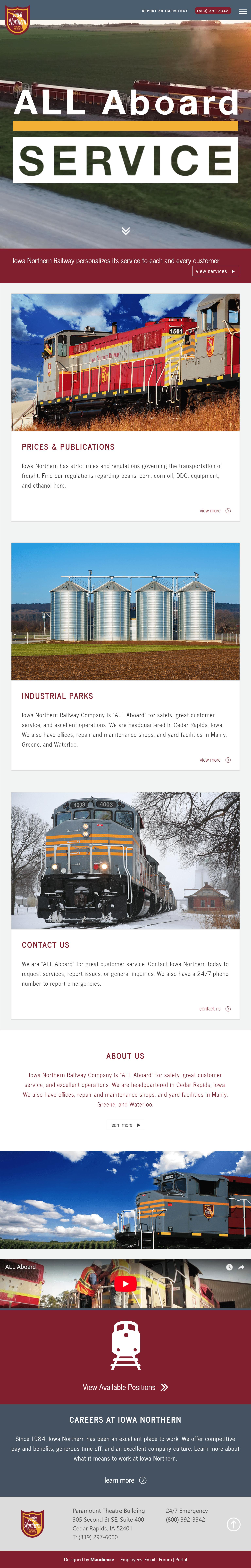 Iowa Northern Mobile Website